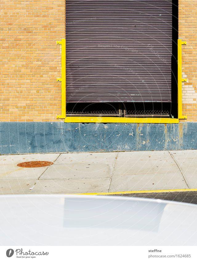 Rechteck in Brooklyn Wand Mauer verrückt USA