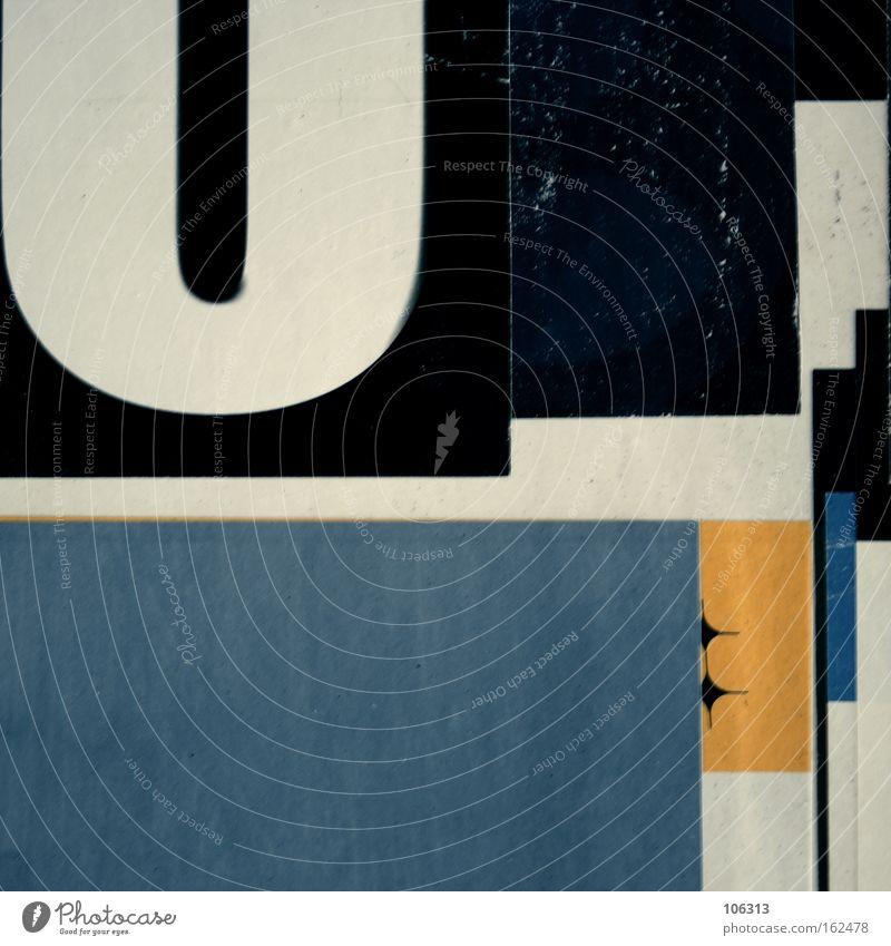 Fotonummer 117093 schwarz weiß blau gelb Strukturen & Formen Quader Rechteck Kunst Kultur