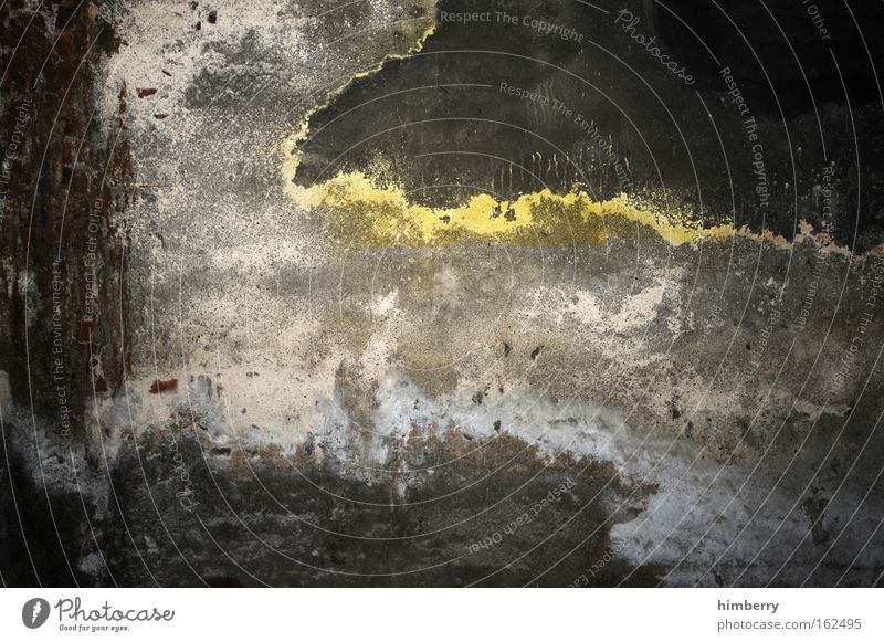 schmuddelfilm gelb dunkel Wand grau Mauer Kunst Hintergrundbild dreckig Beton Design Baustelle einzigartig Bauwerk Fabrik verfallen feucht