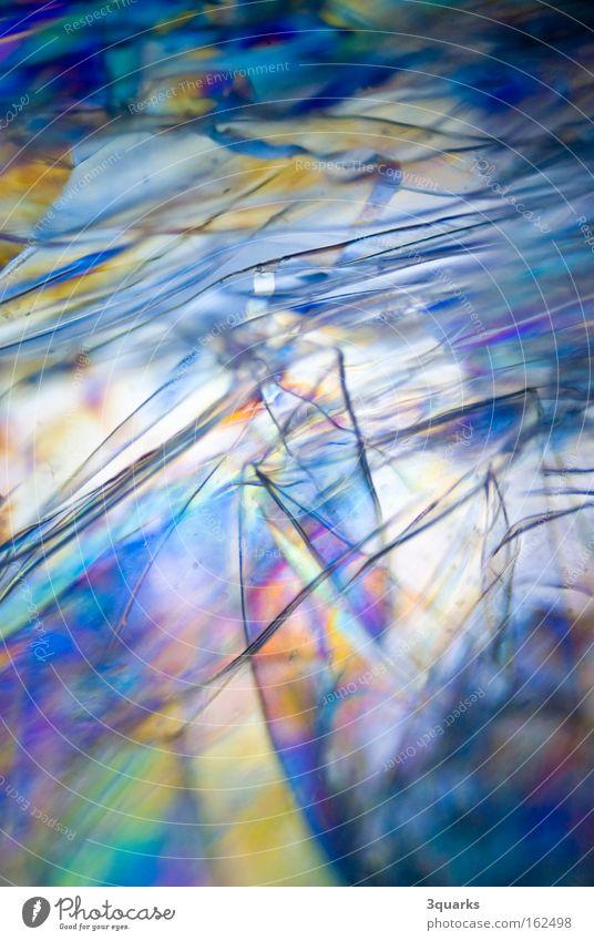 plastikfolie Farbe abstrakt Statue Kunststoff durchsichtig Folie Mikrofotografie Spektralfarbe