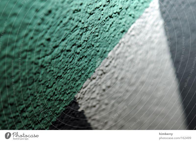 mauerpower weiß grün Haus Wand Stein Mauer Farbstoff Hintergrundbild Fassade Beton Design außergewöhnlich neu Industrie einzigartig einfach
