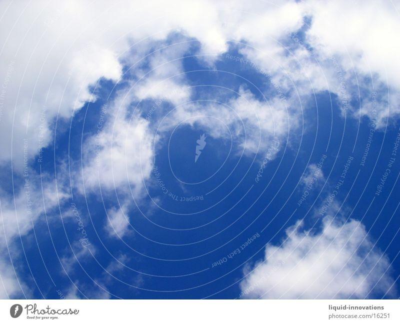 Wolken Himmel weiß blau