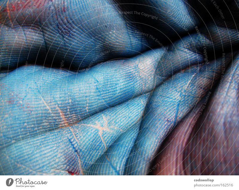 polygonum tinctorum blau Hand kalt Farbstoff Kunst Haut Wissenschaften Färbung Kunsthandwerk Druckerei Handfläche erfrieren Fingerfarbe