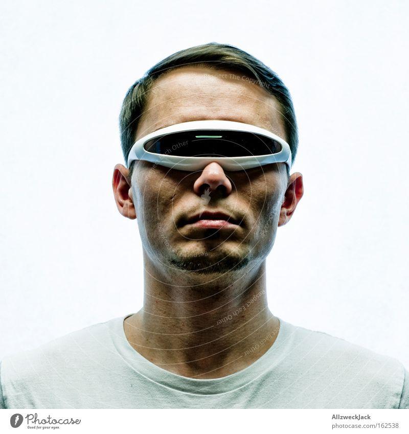 cyclops Porträt Brille Sonnenbrille außerirdisch fremd fantastisch exotisch Star Trek Techno Mode trendy schön Mann zyklop in Jugendliche