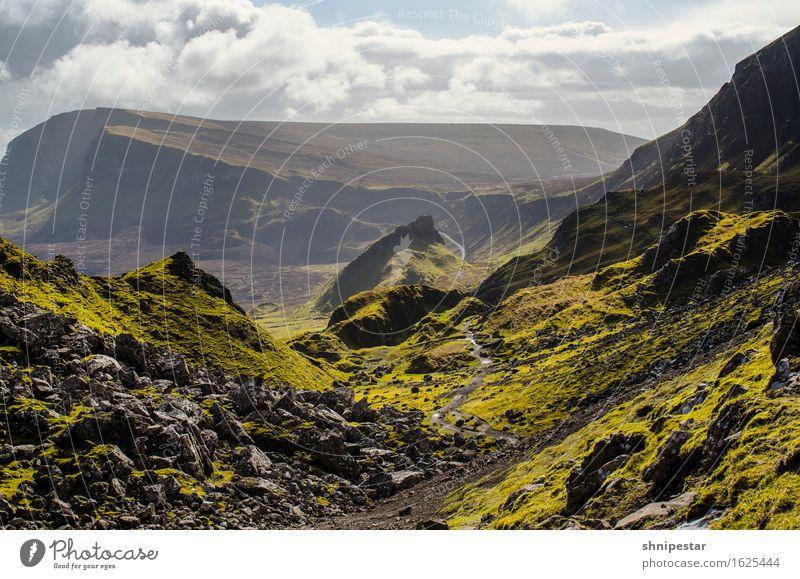 The Quiraing, Isle of Skye, Scotland Natur Ferien & Urlaub & Reisen Landschaft Erholung Ferne Berge u. Gebirge Umwelt Frühling Felsen Tourismus Wetter Erde