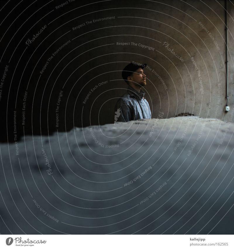 mal über den tellerrand sehen Mann Mensch Mauer Blick Tellerrand Toleranz Zukunft Hoffnung Coolness Typ Baseballmütze Mütze martin horizont erweitern
