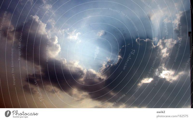 Kitschposter Natur schön weiß blau Wolken Wand oben Mauer Luft Stimmung Beleuchtung Kraft groß Hoffnung bedrohlich