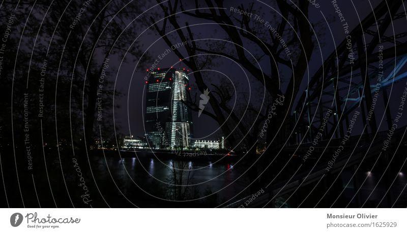 Schattenbank, ecb tower, Frankfurt, Germany, 2016 Stadtzentrum Skyline Hochhaus Bankgebäude Brücke Sehenswürdigkeit EZB european central bank