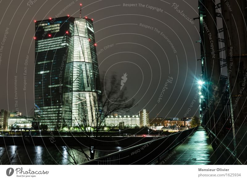 european central bank, Frankfurt, Germany, 2016 Frankfurt am Main Deutschland Europa Stadt Skyline Bankgebäude Brücke Bauwerk Gebäude Architektur