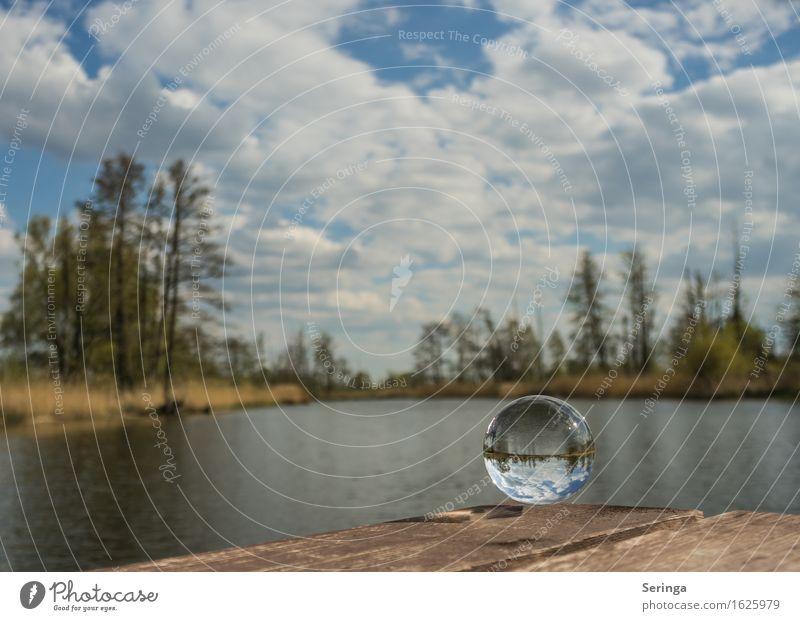 Gläserne Einblicke Natur Landschaft Wasser Himmel Wolken Frühling Sommer Fluss Glas Ferien & Urlaub & Reisen Glaskugel Farbfoto mehrfarbig Außenaufnahme