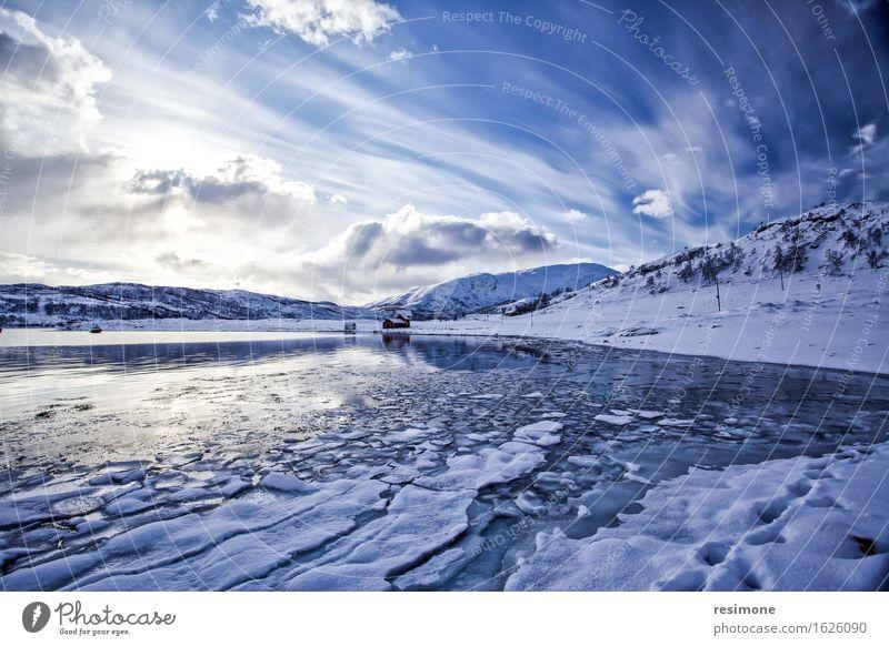 Artic See Himmel Natur Ferien & Urlaub & Reisen blau schön Farbe weiß Sonne Meer Landschaft Wolken Strand Winter Berge u. Gebirge Umwelt Schnee