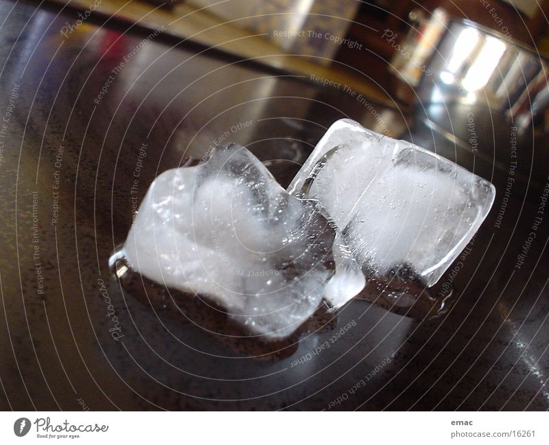 icecube Eiswürfel Kochplatte Dinge leicht geschmolzen Eisblock
