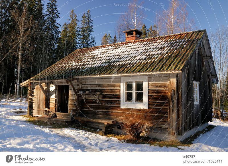 Hütte Ferien & Urlaub & Reisen Haus Winter Schnee Lifestyle Schneeflocke Schweden Cottage Schneewehe Dalarna Trave