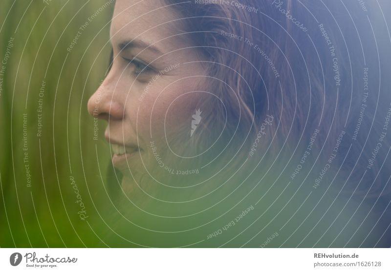 Julia Mensch feminin Junge Frau Jugendliche Kopf Gesicht Auge Nase Mund 1 18-30 Jahre Erwachsene brünett langhaarig Locken Blick schön modern grün Abenteuer