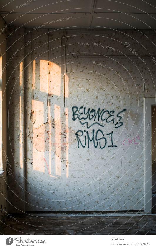 [DD|Apr|09] crazy in love Raum Licht Dämmerung Fenster verfallen Tapete Schatten Abendsonne Häusliches Leben beyonce usertreffen schöner wohnen