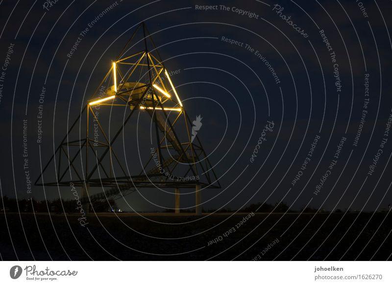 ... und abends mit Beleuchtung Ferien & Urlaub & Reisen Stadt blau gelb Kunst Metall Tourismus Beton Wandel & Veränderung Wahrzeichen Sehenswürdigkeit Geometrie
