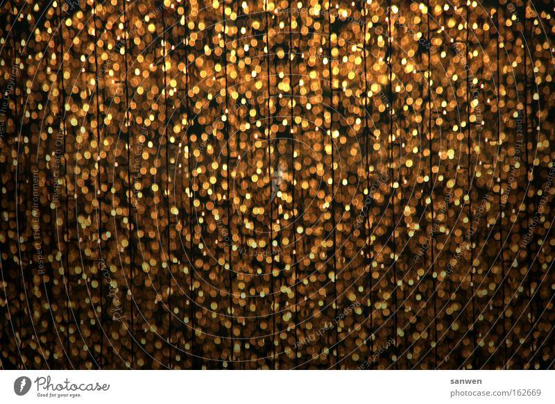 goldregen Weihnachten & Advent Regen Licht glänzend Gold Feste & Feiern Stern (Symbol) Himmelskörper & Weltall Sternschnuppe Goldregen