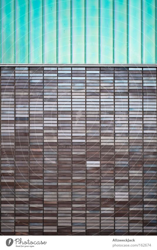 mosaic rain Wasser schön Fenster abstrakt Regen Architektur Streifen Fliesen u. Kacheln Mosaik Sporthalle hell-blau