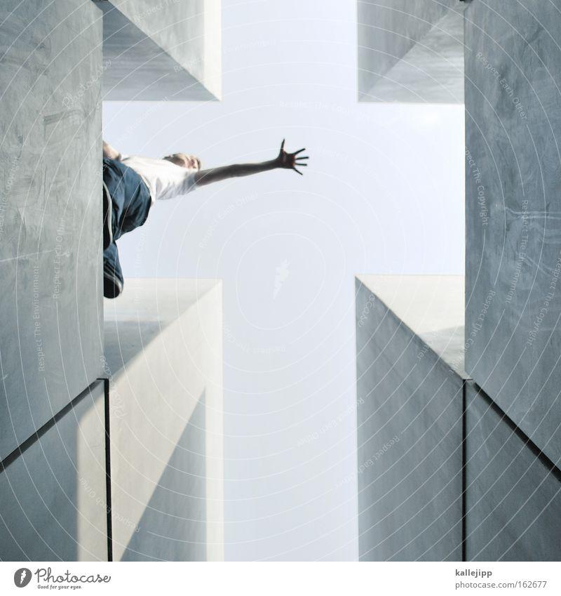 kreuzigung Christliches Kreuz Himmel Karfreitag Mensch Religion & Glaube Kirche Hilfsbereitschaft Hilferuf Hand fangen greifen Gott Symbole & Metaphern