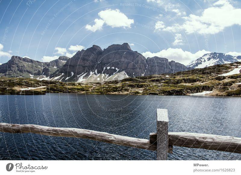 st.bernardino pass Umwelt Natur Landschaft Wasser Himmel Schönes Wetter Felsen Alpen Berge u. Gebirge Gipfel Schneebedeckte Gipfel Seeufer Abenteuer Erholung