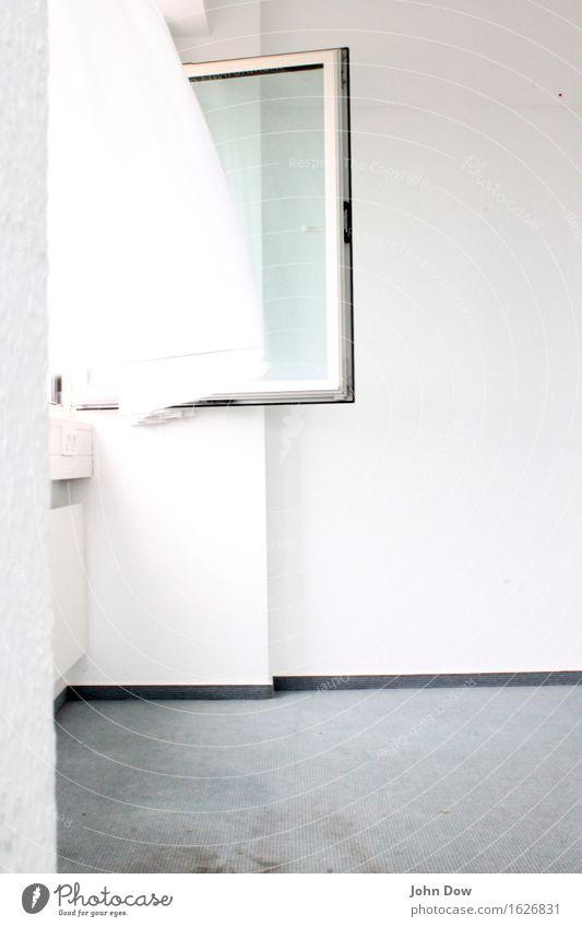 eyes wide open weiß Fenster Bewegung hell Zufriedenheit Büro Luft Kraft Wind Wandel & Veränderung Boden erleuchten neu Umzug (Wohnungswechsel) Vorhang Gardine