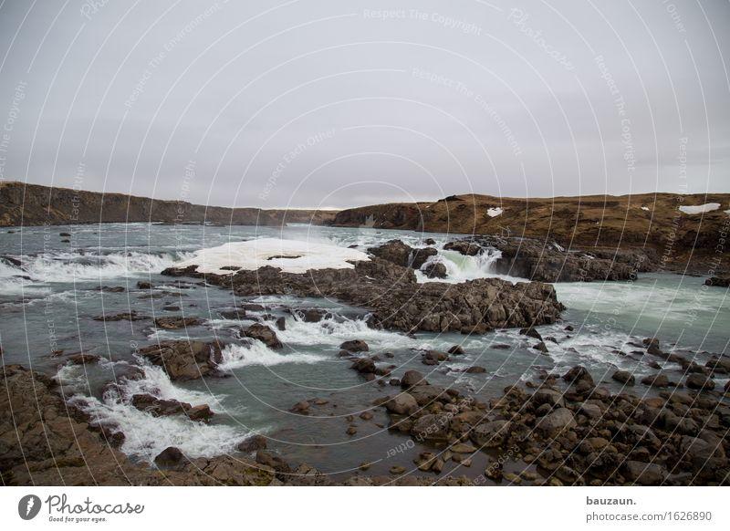 und ein wasserfall. Natur Ferien & Urlaub & Reisen Wasser Landschaft Wolken Ferne Winter Umwelt Schnee Freiheit Tourismus Wetter Erde Wellen Ausflug Klima