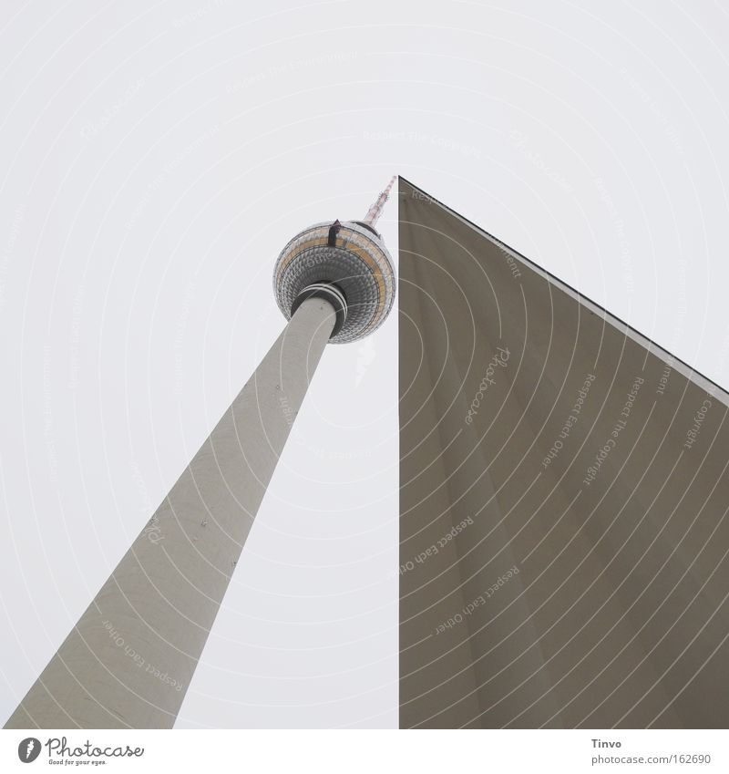 Treffpunkt: Mitte Berlin Architektur Turm Spitze Kugel Denkmal Wahrzeichen Berlin-Mitte graphisch Fernsehturm Alexanderplatz