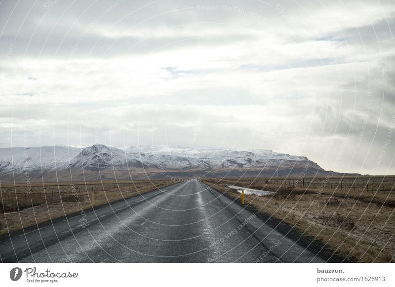 noch weiter. Himmel Natur Ferien & Urlaub & Reisen Landschaft Wolken Ferne Winter Berge u. Gebirge Umwelt Straße Wege & Pfade Schnee Freiheit Tourismus Wetter