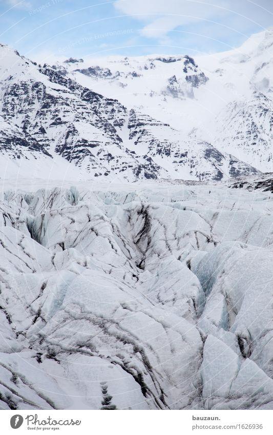 gletscher. Ferien & Urlaub & Reisen Tourismus Ausflug Abenteuer Ferne Freiheit Expedition Winter Schnee Berge u. Gebirge Klima Klimawandel Schönes Wetter Eis