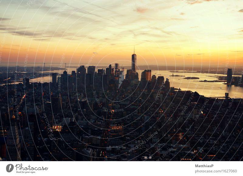 View over New York City from Empire State Building Ferien & Urlaub & Reisen Stadt Erholung Haus Architektur Stimmung Tourismus träumen Hochhaus ästhetisch