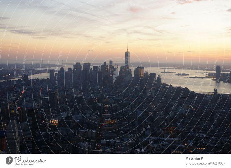 New York City / Manhatten Lifestyle Sightseeing Städtereise Architektur Landschaft Himmel Horizont Sonnenaufgang Sonnenuntergang Manhattan Amerika Hauptstadt