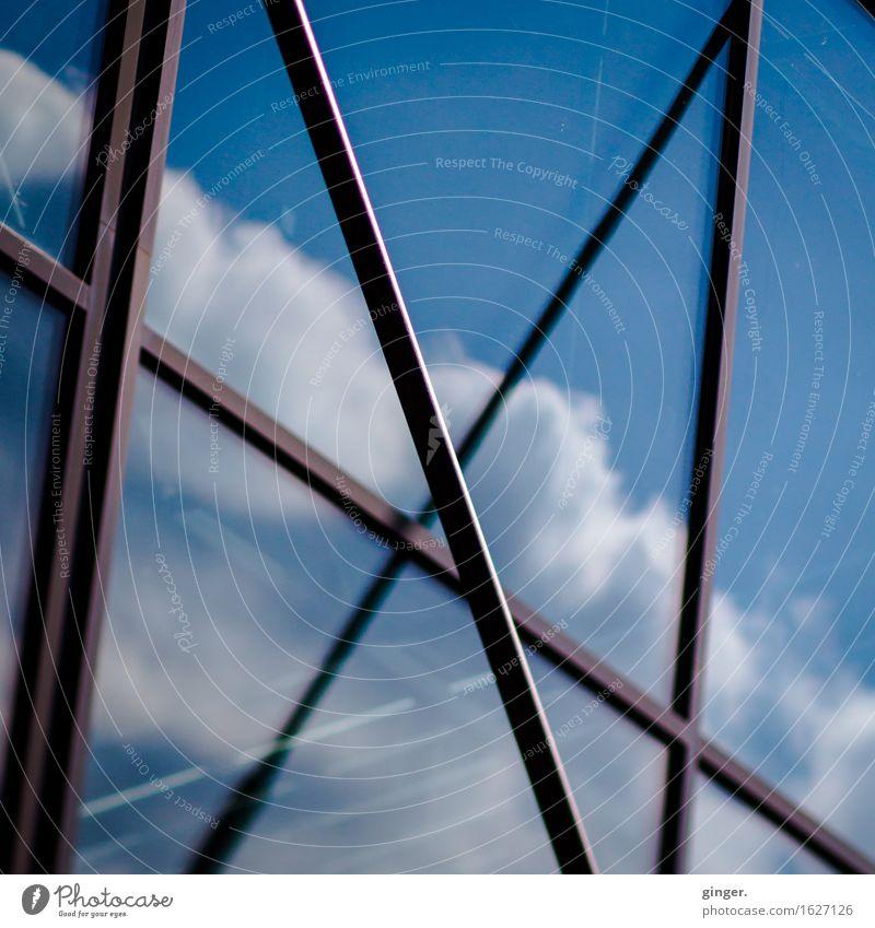 Köln UT | Kalk | Zuckerwatte Himmel Stadt blau weiß Wolken Fenster kalt Architektur Gebäude braun oben Fassade hoch Ecke Schönes Wetter weich