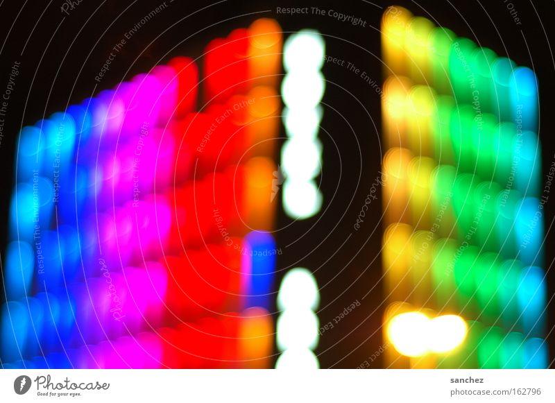 Hotelfassade (Essen) Farbe Hintergrundbild modern Nachtleben Unschärfe Feste & Feiern Partynacht