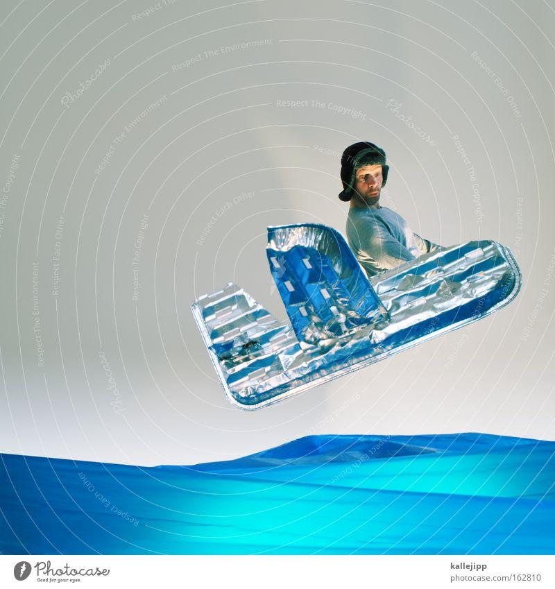 spirit of st. louis Mensch Mann Wasser Meer Flugzeug fliegen Industrie Luftverkehr Abenteuer Comic Aluminium gestellt Atlantik künstlich Pionier