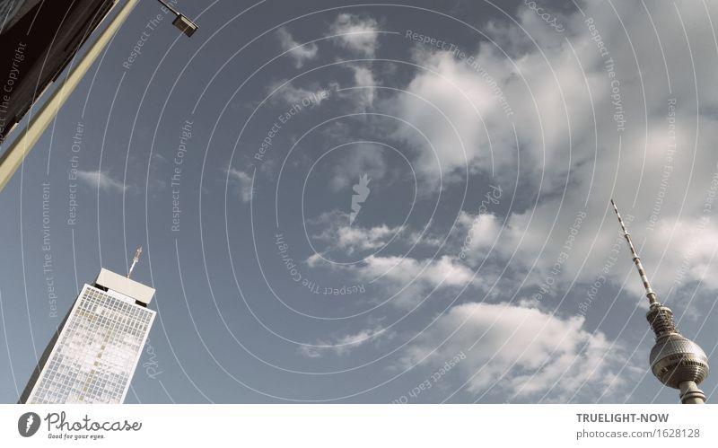Eckensteher. Kennt man ja... Himmel blau Sommer Wolken kalt Architektur Frühling grau Deutschland Fassade glänzend elegant modern Hochhaus Telekommunikation