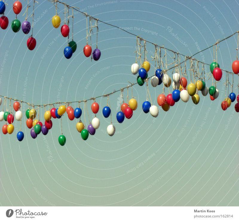 Nicht immer nur am Boden suchen! [Easter Hang On] Himmel Farbe Erholung Freude Feste & Feiern Dekoration & Verzierung Elektrizität Seil Schnur Ostern Kabel