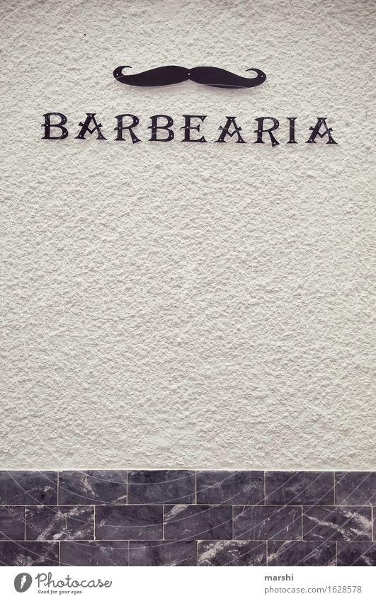 Barbearia Mann Haus Wand Mauer Stimmung Fassade Schilder & Markierungen Hinweisschild Zeichen Ziffern & Zahlen Bart Stadtzentrum Altstadt Wohnzimmer Ornament Oberlippenbart