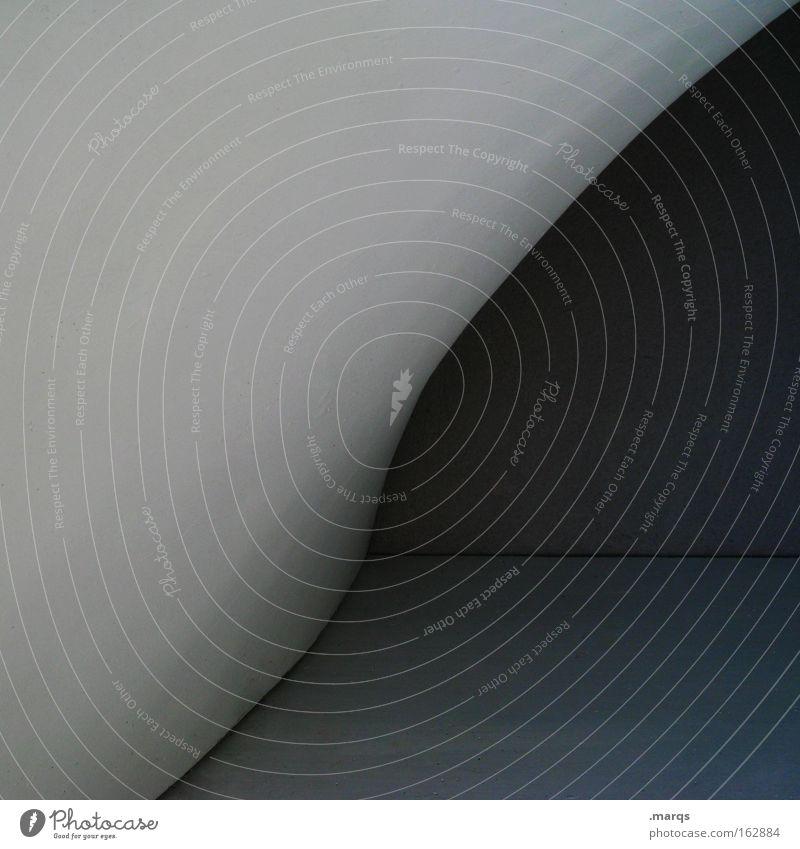Plastik blau dunkel grau Linie Architektur Hintergrundbild Design Grafik u. Illustration Geometrie Schwung Bogen sehr wenige