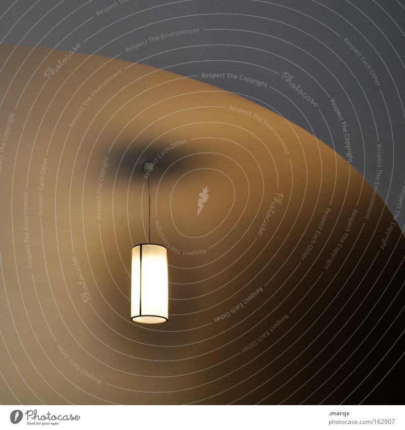 Bauchnabel Lampe dunkel Wand Gefühle Mauer Beleuchtung Angst Architektur Elektrizität leuchten hängen Panik Sorge Gang Bogen Erkenntnis