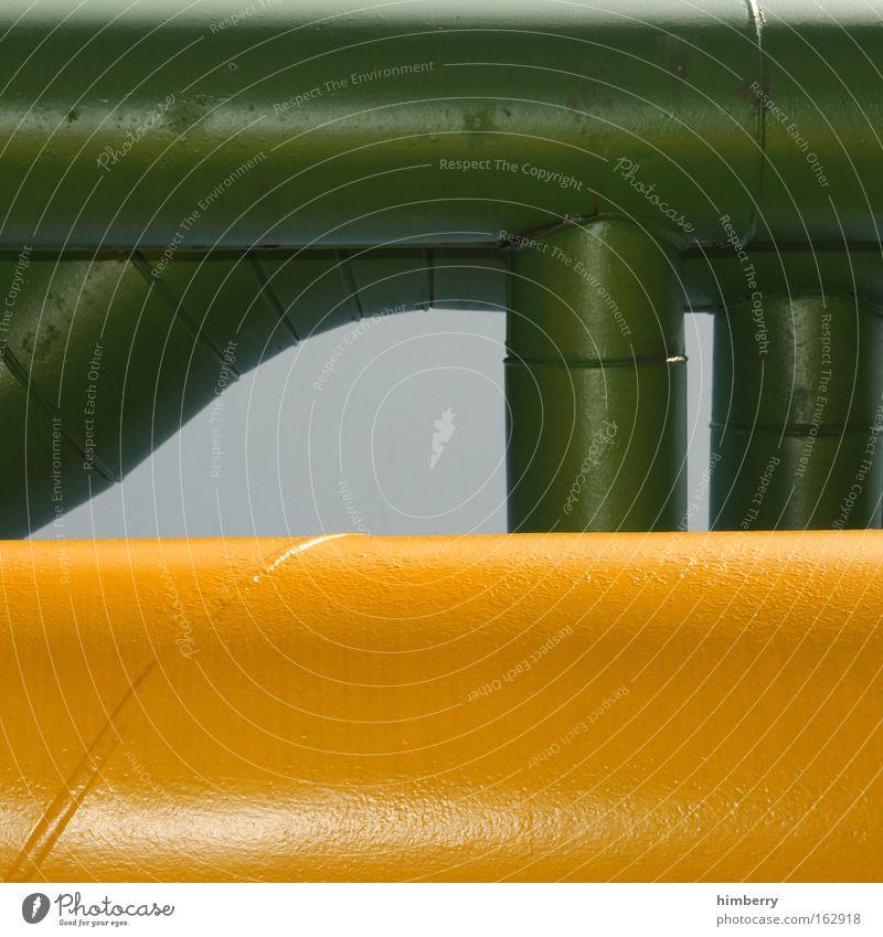 pipecase grün gelb Farbe Industrie Energiewirtschaft Zukunft Technik & Technologie Industriefotografie Fabrik Baustelle Wissenschaften Röhren Sonnenenergie