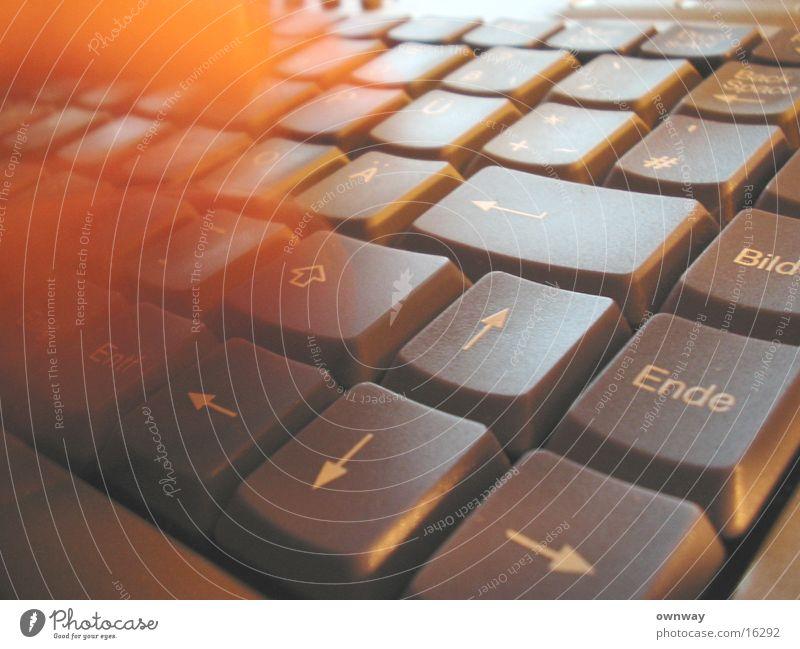 Tastendruck Tippen Hand Geschwindigkeit Internet zerkleinern Bewegung Tastatur