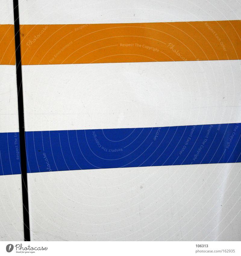Fotonummer 117167 gelb blau Linie weiß Strukturen & Formen geschnitten krumm Farbe Haarschnitt Neigung