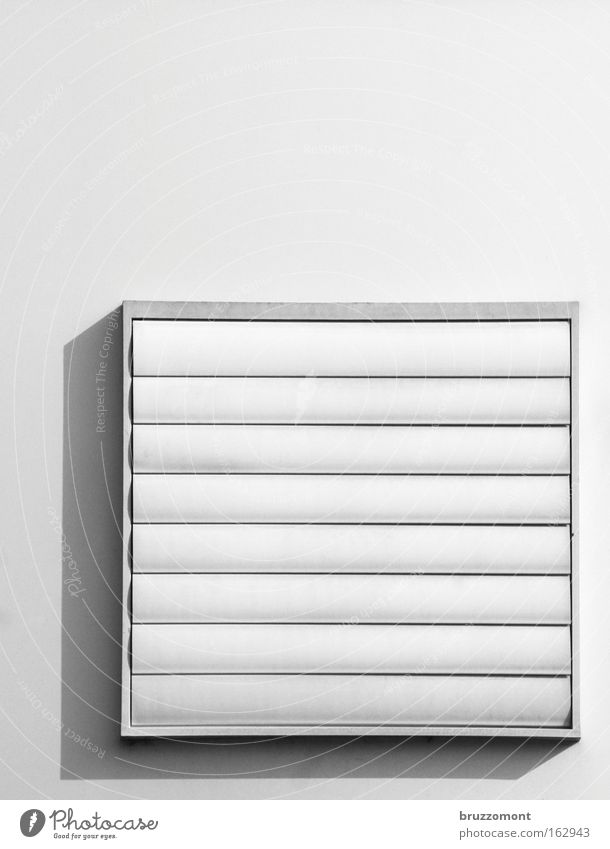 |=_| weiß schwarz geschlossen Quadrat Geometrie Rechteck Lamellenjalousie Lüftung Klimaanlage