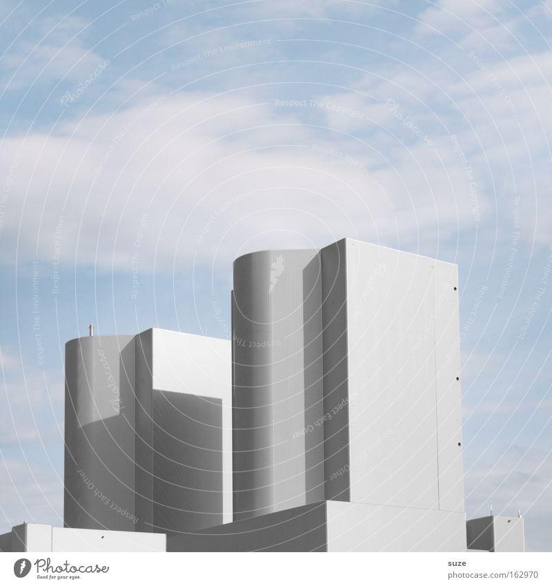 Kraftwerk Fabrik Industriefotografie Arbeit & Erwerbstätigkeit Design grau Metall Himmel Schornstein Abgas Rauch Smog Umwelt Schadstoff Luft Luftverschmutzung