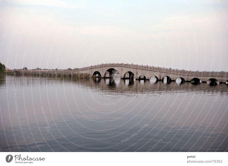 Quanfu Bridge Wasser Brücke Fluss China Venedig