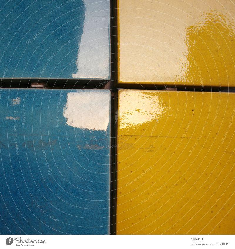 Fotonummer 117081 blau gelb Trennung Licht Fuge fließen Farbe stereo 2 Spalte Furche Zwischenraum Küche modern