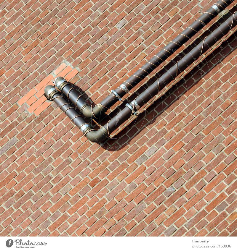 input output Wand Architektur Gebäude Mauer außergewöhnlich Stein Energiewirtschaft Zukunft Industrie Industriefotografie Fabrik Wissenschaften Backstein Röhren