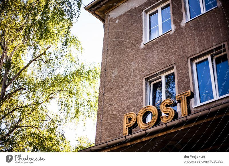 Hier ging mal die Post ab Ferien & Urlaub & Reisen alt Haus Architektur Wand Gebäude Mauer Stein Tourismus Schilder & Markierungen ästhetisch authentisch