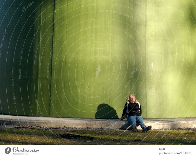 Relax! Pause Erholung Windkraftanlage Elektrizität Energiewirtschaft Erneuerbare Energie Licht Schatten grün froggy