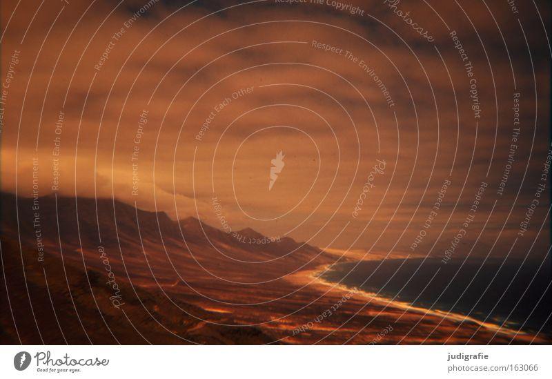 Rücksicht/Durchsicht Himmel Meer Strand Wolken Farbe Küste Insel Unwetter unheimlich Dia Atlantik Fuerteventura